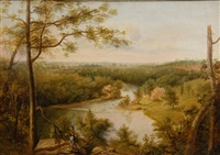 brandywine river, view of the schuylkill by thomas doughty