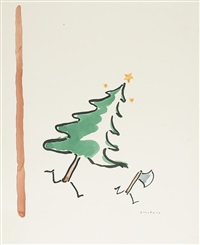 christmas tree chasing an axe by r.o. blechman