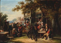 a village festival by frederick goodall