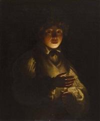 boy by candlelight by michelangelo merisi da caravaggio