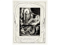 illustrations of the book of job: then a spirit passed before my face; i have heard thee by william blake