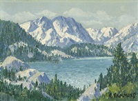 june lake, high sierras by carl sammons