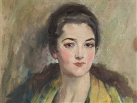 portrait of a young woman by edward cucuel