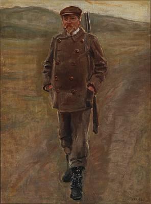 mayor bornemann in hunting garb, denmark by michael peter ancher