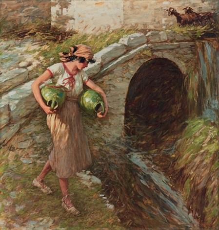 girl with jars by henry herbert la thangue
