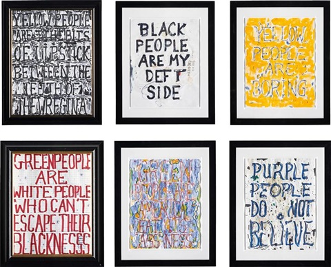 yellow people are black people are my yellow people green people are the white green people are america and purple people do 6 works by william popel