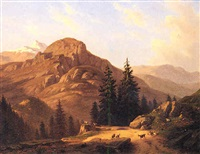 paesaggio di montagna by giovanni corvini