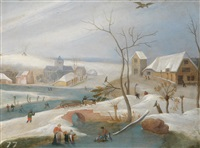 winterlandschaft by abel grimmer