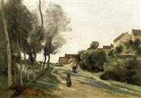 le chemin de méry by jean-baptiste-camille corot