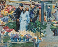 market, stockholm, sweden by edith grace coombs