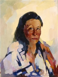 untitled (portrait of taos indian) by hans paap