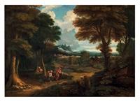 paysage avec mercure et argus by jan frans van bloemen