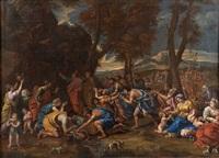le frappement du rocheraujourd'hui conservée à la national gallery of edinburgh expert cabinet turquin by nicolas poussin