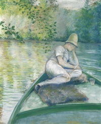 canotier sur l'yerres by gustave caillebotte