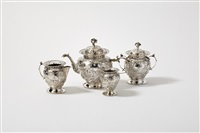 tea set (set of 4) by gerrit de haan and pier van de woude