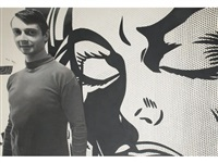 roy lichtenstein in his studio 1964 by dennis hopper