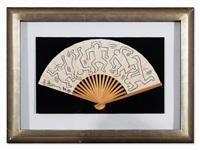 fan for grace jones by keith haring