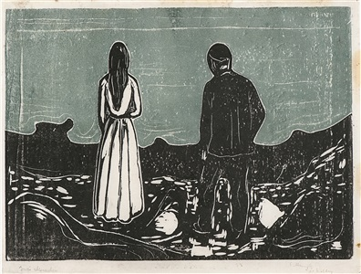 two human beings the lonely ones by edvard munch