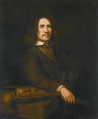 portrait of a gentleman, possibly caspar calthoff by samuel van hoogstraten