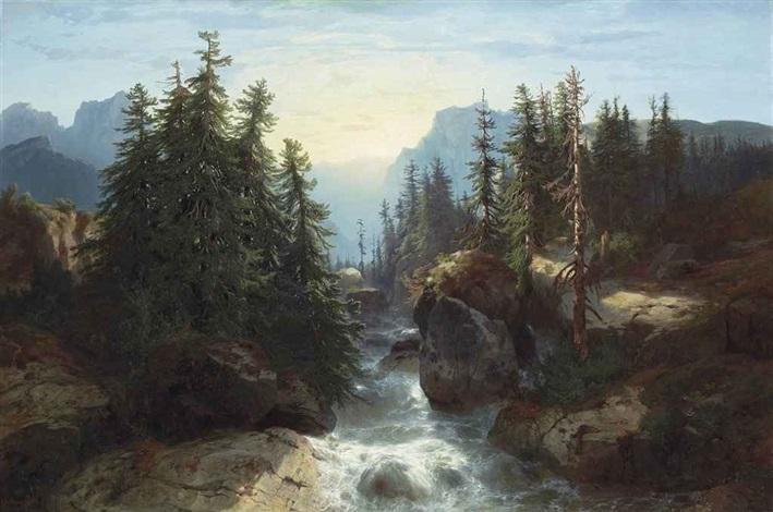torrent des alpes souvenir de la scheidegg by alexandre calame