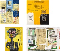 portfolio ii-4/2005 (set of 4) by jean-michel basquiat