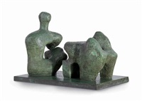 two piece reclining figure no. 4 by henry moore