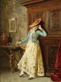 the mandolin player by attilio simonetti