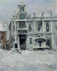 nevicata in piazza san giacomo (udine) by bepi liusso