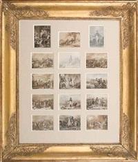 principaux épisodes de la vie de l'empereur napoléon ier, de ses batailles et de son règne (set of 15; collab. w/henry scheffer) by j. alp testard