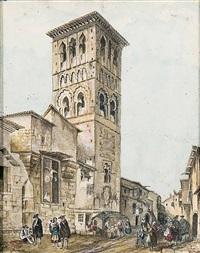 iglesia de santo tomé en toledo by genaro perez villaamil