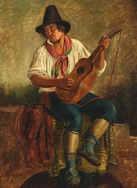 italian mandolin player by peter (johann p.) raadsig