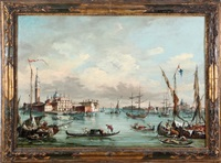 venice canal scene by francesco guardi