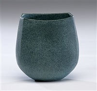 vase with blue glaze by john ward