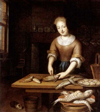 a fish seller by pieter cattel