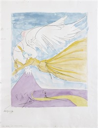 hagoromo (robe of feathers), for japanese fairytales by salvador dalí