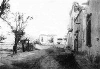 mexique, la ville de san sebastian après les combats qui ont opposé les troupes de maximilien aux républicains by francois aubert