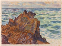 les rochers rouges by armand guillaumin
