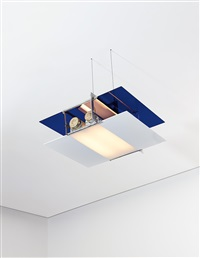 rare aéroplane ceiling light by eileen gray