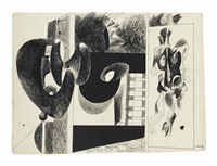 sans titre (study for nighttime, enigma and nostalgia) by arshile gorky