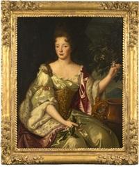 portrait présumé de françoise marie de bourbon, duchesse d'orléans by pierre gobert