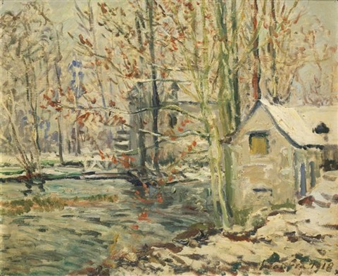 paysage dhiver by maxime maufra