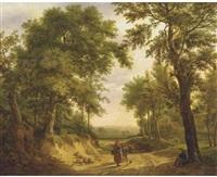 on a forest path in summer by maximilien lambert gelissen