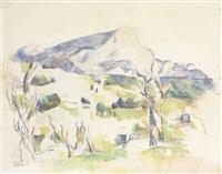 la montagne sainte-victoire vue des lauves by paul cézanne