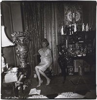 a widow in her bedroom on 55th st., nyc by diane arbus