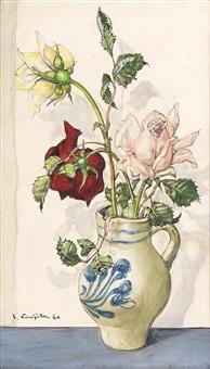 bouquet of flowers by léonard tsuguharu foujita
