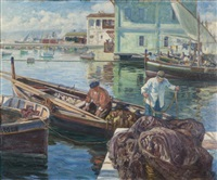 le port d'alger by alphonse léon germain-thill