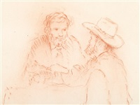 portrait deux hommes by pierre-auguste renoir