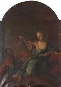 jeune femme aux bulles de savon by jean-baptiste santerre
