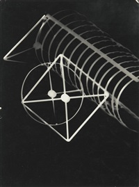 fotogramm (photogram with diagrammatic square and circles) by lászló moholy-nagy