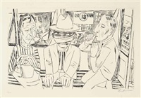 in der trambahn by max beckmann